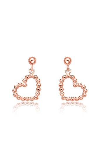 CHOW TAI FOOK Jewellery gold CHOW TAI FOOK 18K 750 Rose Gold Earrings -  Hearts Karat Gold E124105 979DEAC754137AGS_1