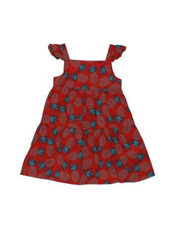 DU PAREIL AU MÊME (DPAM) red Red Printed Sleeveless Tiered Dress E5D7DKA4DFF609GS_1
