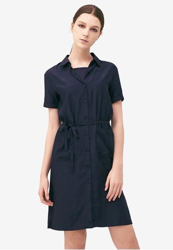 Kodz navy Casual Shirt Midi Dress F8705AA0B837C6GS_1