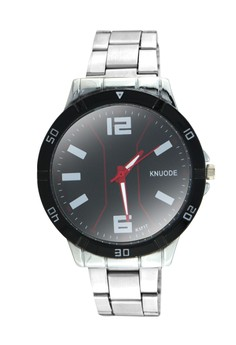 KNUODE Classic Men's Silver Stainless Steel Strap Wrist Watch K1717-B
