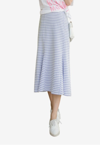 Tokichoi blue Textured Pleated Hem Skirt 21961AA29DA6C8GS_1