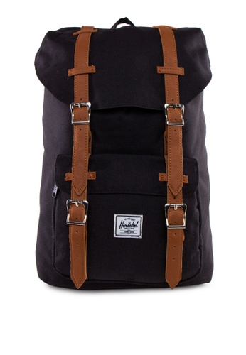 Herschel black Little America Mid-Volume Backpack HE305AC42NDXSG_1