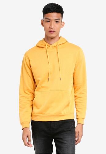 Factorie yellow Plain Hoodie FD760AA65BD597GS_1