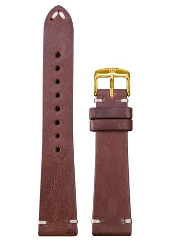 Undone brown Undone Brown Calf Leather Strap 20mm (Gold Buckle) UN712AC2VEJVHK_1