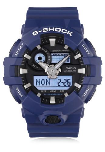 Casio blue Casio G-SHOCK Jam Tangan Pria - Blue - Silicon - GA-700-2ADR CA347AC0UP1JID_1