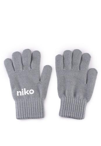 niko and ... grey Print Gloves 9E301AC9EF9012GS_1