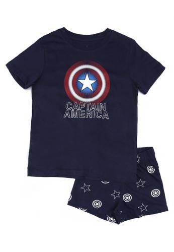 FOX Kids & Baby navy Navy T-Shirt And Printed Shorts Set 42492KAB483959GS_1