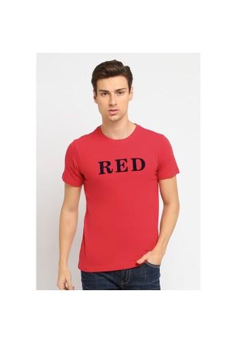 Osella red osella baju pria kaos lengan pendek red 4D03AAAE7B5F9CGS_1