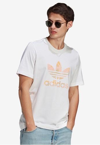 ADIDAS white camo trefoil t-shirt 68AF2AA511D4B7GS_1