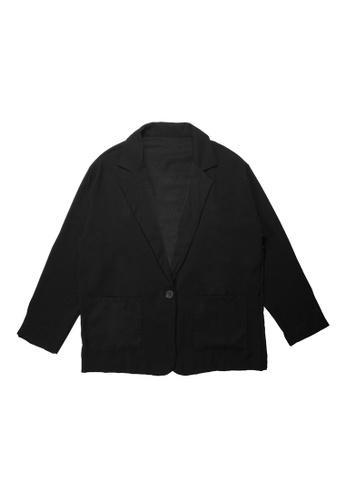 DRUM black SMART CASUAL BLAZER- BLACK 79E95AA45E9CCEGS_1