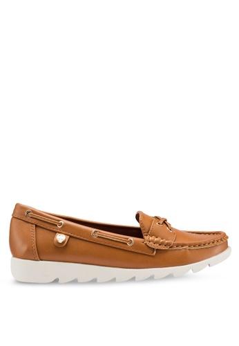 Carlton London 褐色 厚底樂福鞋 464F6SHE667B29GS_1