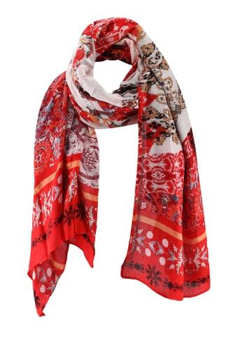 Desigual red Indonesios Patch Scarf E3A08AC84D5DA2GS_1