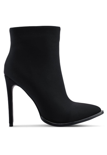 Public Desire 黑色 Senorita Sock Fit 細跟高跟踝靴 E8160SH0890FE1GS_1