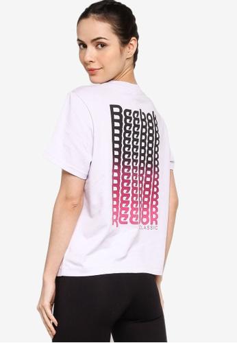 Reebok 紫色 經典Festival 印花T-襯衫 B9655AA68F1C83GS_1