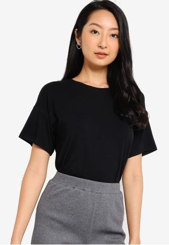 ZALORA BASICS black Oversized T-Shirt 83F8CAA4B14F1DGS_1