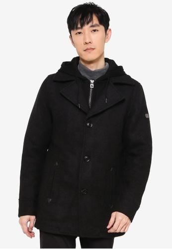 Indicode Jeans black Adair Hooded Coat FA4A6AA85FC245GS_1