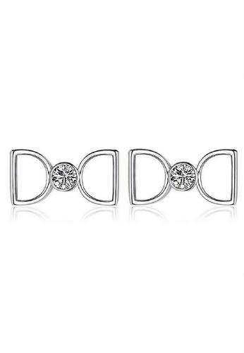 Vivere Rosse silver Infinite Love Stud Earrings VI014AC42TVPMY_1