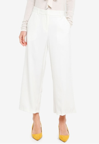 CLOSET white Wide Leg Trousers FDBB3AAA6EDCC1GS_1