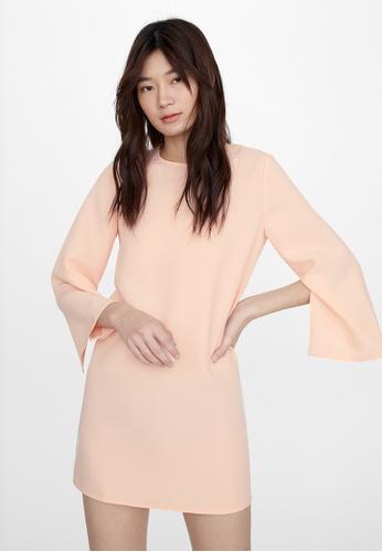 Pomelo pink Mini Slit Sleeve Dress - Pink 04E42AA867F696GS_1
