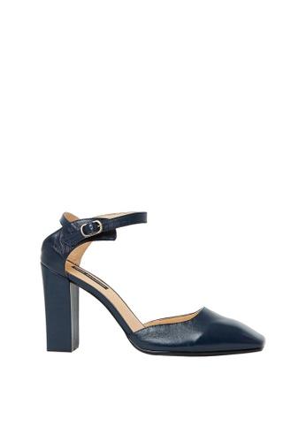 Nina Armando navy Lance Leather High Heel NI342SH0FV9BSG_1