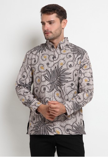 BATIK RAKATA grey Batik Rakata Kemeja Lengan Panjang Grey RK070 9051AAA0A2B528GS_1