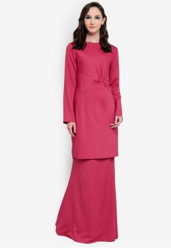 Heidi Drape Kurung from Syaiful Baharim in Pink