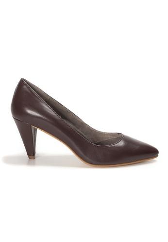 Shu Talk brown AMAZTEP Simply Elegant Pointed Toe High Heels A6FFCSH3797472GS_1