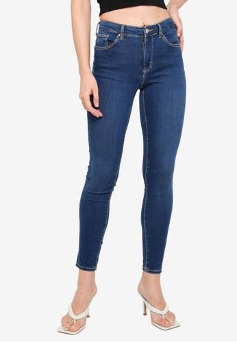 TOPSHOP blue Indigo Leigh Jeans 3C62BAAA8A7BE2GS_1