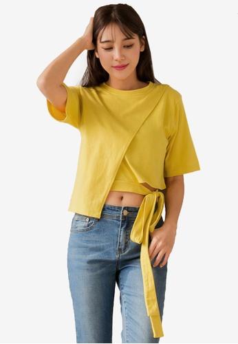 2bd273d3ac283b Buy Tokichoi Tie-Back Asymmetrical Hem Top Online on ZALORA Singapore