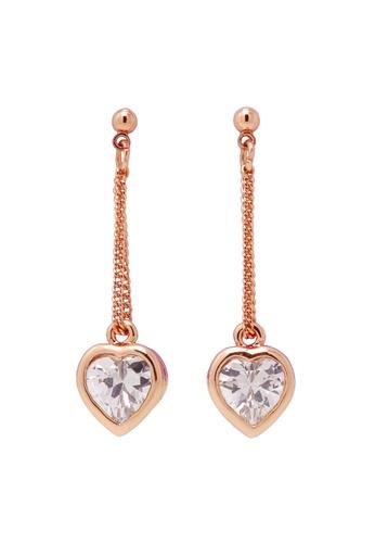 Jaysa Collection gold Austrian Crystals Heart Dangle Earrings JA875AC0FJU4SG_1
