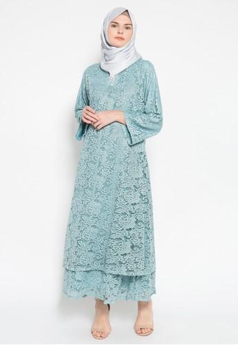 Kasa Heritage blue Hala Dress - Blue 0C573AA00D33CCGS_1