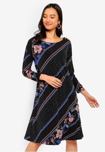 28054a897af046 Buy WAREHOUSE Savannah Button Shoulder Dress Online on ZALORA Singapore