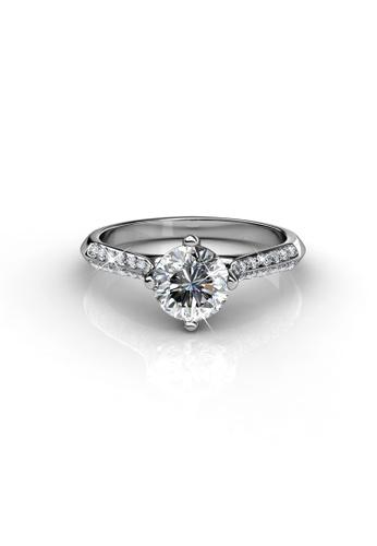 Her Jewellery silver Swarovski® Crystals - Luxx Ring (White Gold)(18K White Gold Plated) Her Jewellery HE581AC0RD8TMY_1