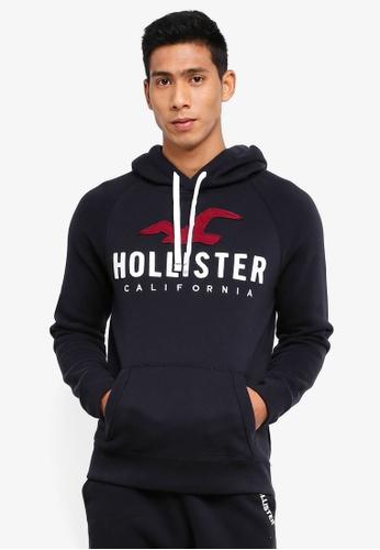 Hollister 黑色 LOGO壓紋帽T F9D8BAAB128A9FGS_1
