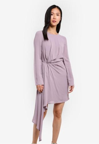 Bardot purple Stilla Drape Dress BA332AA0SBJ7MY_1