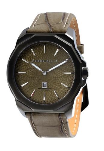 Perry Ellis brown Perry Ellis Decagon Men 46mm Quartz Watch 05008-01 53953ACFC22E9EGS_1