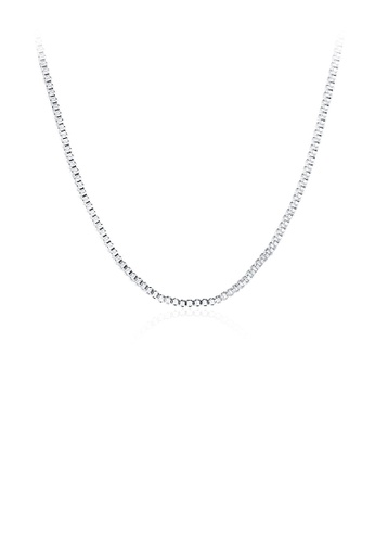 Glamorousky silver Fashion Simple 1MM Box Necklace 45cm 47CC6AC6D9EFE6GS_1
