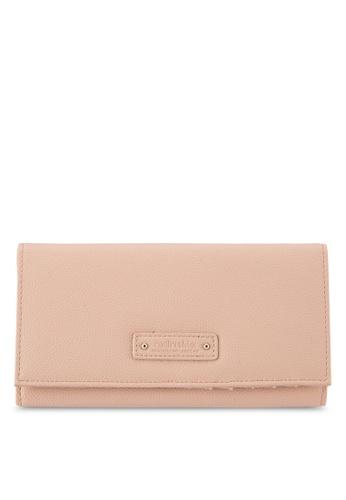 Perllini&Mel beige Faux Leather Long Size Wallet PE444AC0SBN4MY_1