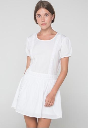 Blood & Bone white WAY DOWN DRESS WHITE 8073CAA974335CGS_1