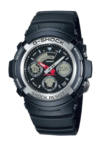 CASIO black Casio G-Shock Silver and Black Resin Watch AE34AAC1C39292GS_1