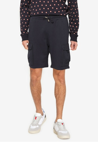 Only & Sons navy ONSNICKY LIFE SWEAT SHORTS  NF 9126 44F13AA1641FE7GS_1