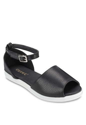 露趾厚底esprit taiwan平底涼鞋, 女鞋, 涼鞋