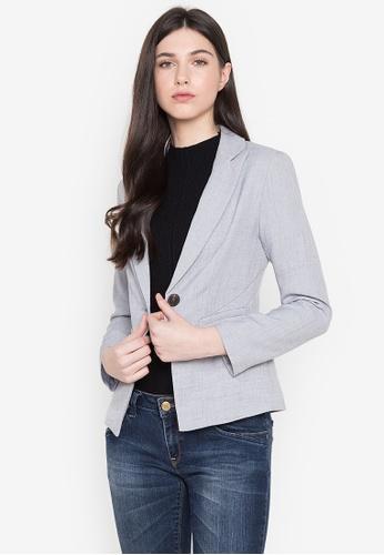 Well Suited grey Slim Business Casual Blazer B2B0EAAEFBBDA1GS_1