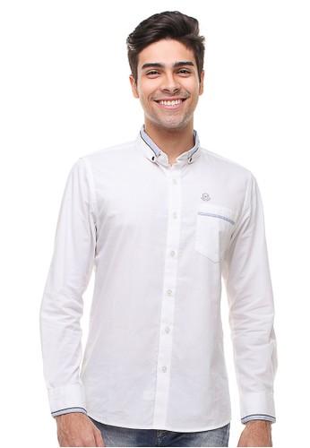 Johnwin white Johnwin - Slim Fit - Kemeja Casual Active - Kerah Kancing - Putih 518D4AA258C5B0GS_1