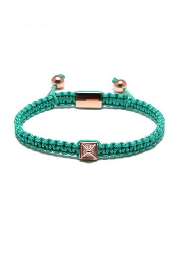 TIAS green and multi Tias Rose Pyramid Stones Turquoise Rope Bracelet F77C5AC0FCA131GS_1