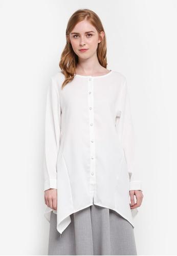 BYN blue Embroidery Shirt 46482AAF53A8D4GS_1