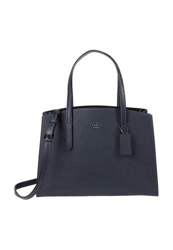 Coach blue Coach Charlie Carryall Shoulder Bag in Midnight Navy/Silver 697BBAC76E6A5FGS_1