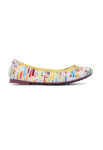 Flatss & Heelss by Rad Russel white Abstract Dots Flats - White BC97CSH8BAD542GS_1