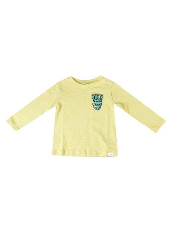 GAP yellow Marvel Graphic T-Shirt 737D2KAC96C4CDGS_1