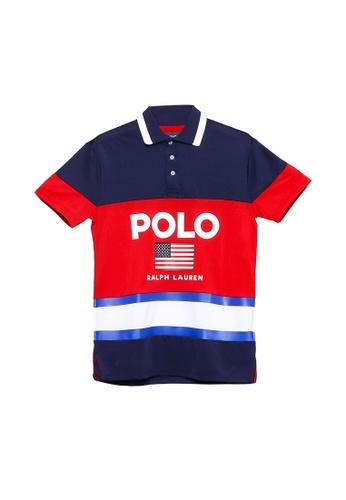 polo ralph lauren multi and navy Retro Polo Shirt CE4F3AA4C95BB4GS_1